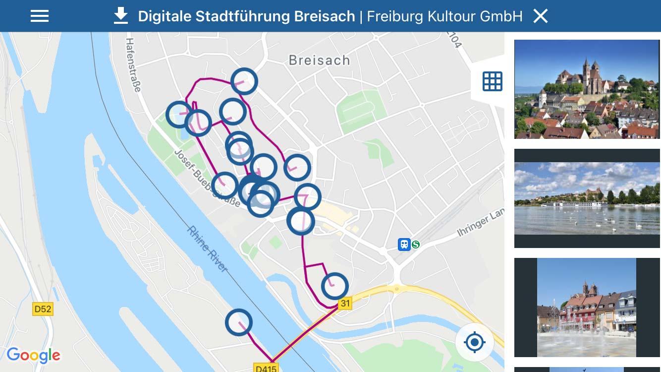 Digitaler Stadtrundgang Breisach